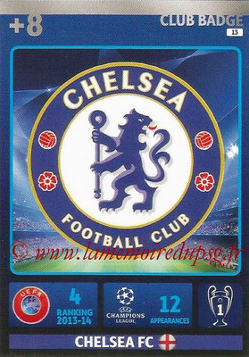2014-15 - Adrenalyn XL champions League N° 013 - Logo Chelsae FC (Club Badge)