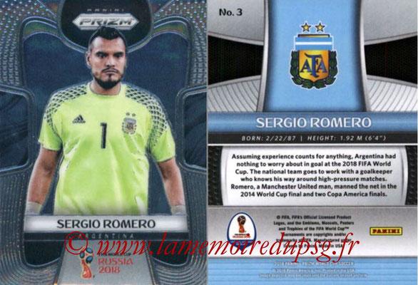 2018 - Panini Prizm FIFA World Cup Russia - N° 003 - Sergio ROMERO (Argentine)