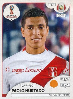 2018 - Panini FIFA World Cup Russia Stickers - N° 247 - Paolo HURTADO (Pérou)
