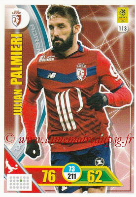 2017-18 - Panini Adrenalyn XL Ligue 1 - N° 113 - Julian PALMIERI (Lille)