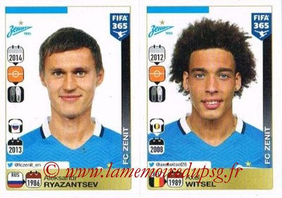 2015-16 - Panini FIFA 365 Stickers - N° 753-754 - Aleksandr RYAZANTSEV + Axel WITSEL (FC Zenit)