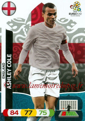 Panini Euro 2012 Cards Adrenalyn XL - N° 048 - Ashley COLE (Angleterre)