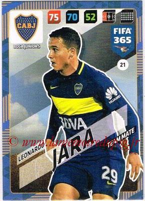 2017-18 - Panini FIFA 365 Cards - N° 021 - Leonardo JARA (Boca Juniors)
