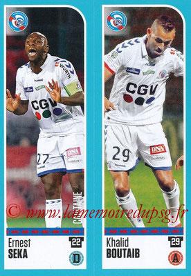 2016-17 - Panini Ligue 1 Stickers - N° 909 + 910 - Ernest SEKA + Khalid BOUTAIB (Strasbourg)