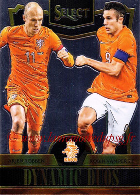 2015 - Panini Select Soccer - N° DD12 - Arjen ROBBEN + Robin VAN PERSIE (Pays-Bas) (Dynamic Duos)