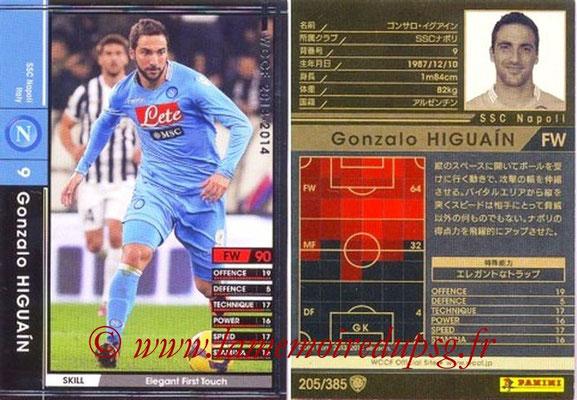 2013-14 - WCCF - N° 205 - Gonzalo HIGUAIN (SSC Napoli)