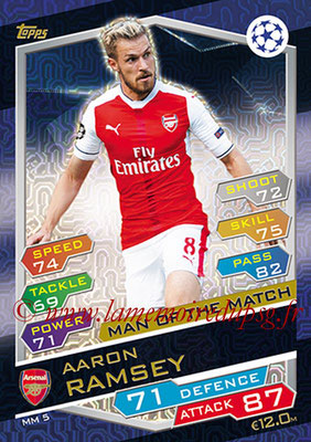 2016-17 - Topps UEFA Champions League Match Attax - N° MM5 - Aaron RAMSEY (Arsenal FC) (Man of the Match)