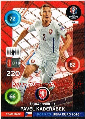 Panini Road to Euro 2016 Cards - N° 048 - Pavel KADERABEK (République Tchèque)