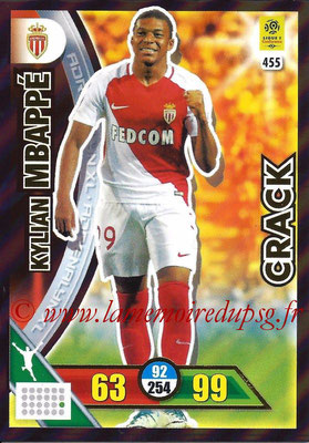 2017-18 - Panini Adrenalyn XL Ligue 1 - N° 455 - Kylian M'BAPPE (Monaco) (Crack)