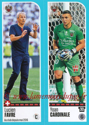 2016-17 - Panini Ligue 1 Stickers - N° 638 + 639 - Lucien FAVRE + Yoan CARDINALE (Nice)