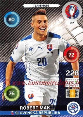 Panini Euro 2016 Cards - N° 357 - Robert MAK (Slovenie)