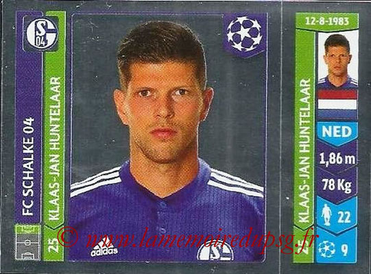 2014-15 - Panini Champions League N° 517 - Klaas-Jan HUNTELAAR (FC Schalke 04)