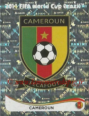 2014 - Panini FIFA World Cup Brazil Stickers - N° 089 - Ecusson Cameroun