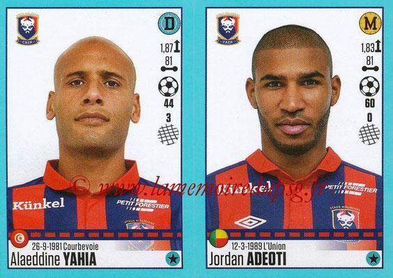 2016-17 - Panini Ligue 1 Stickers - N° 154 + 155 - Alaeddine YAHIA + Jordan ADEOTI (Caen)