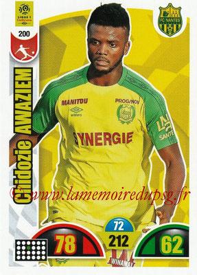 2018-19 - Panini Adrenalyn XL Ligue 1 - N° 200 - Chidozie AWAZIEM (Nantes)