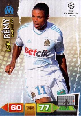 2011-12 - Panini Champions League Cards - N° 202 - Loïc REMY (Olympique de Marseille)