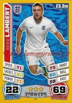 Topps Match Attax England 2014 - N° 099 - Rickie LAMBERT (Angleterre)