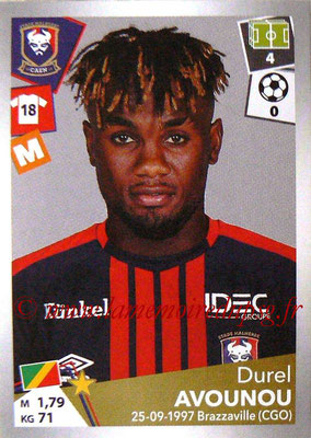 2017-18 - Panini Ligue 1 Stickers - N° 087 - Durel AVOUNOU (Caen)