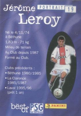 N° 019 - Jerome LEROY (Verso)