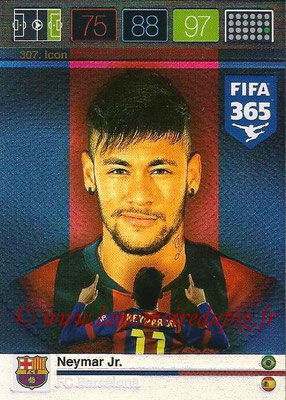 2015-16 - Panini Adrenalyn XL FIFA 365 - N° 307 - NEYMAR Jr (FC Barcelone) (Icon)