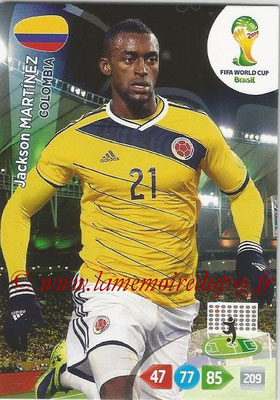 2014 - Panini FIFA World Cup Brazil Adrenalyn XL - N° 085 - Jackson MARTINEZ (Colombie)