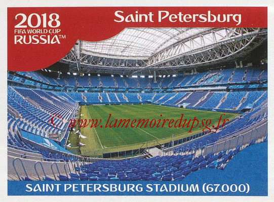 2018 - Panini FIFA World Cup Russia Stickers - N° 015 - Saint Petersburg Stadium, Saint Petersburg (Stades et Villes)
