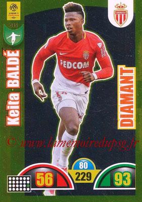 2018-19 - Panini Adrenalyn XL Ligue 1 - N° 415 - Keita BALDE (Monaco) (Diamant)