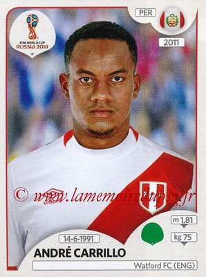 2018 - Panini FIFA World Cup Russia Stickers - N° 251 - André CARRILLO (Pérou)