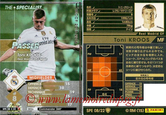 2015-16 - Panini WCCF - N° SPE08 - Toni KROOS (Real Madrid CF) (The Specialist)