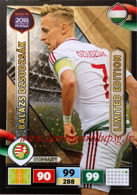2018 - Panini Road to FIFA World Cup Russia Adrenalyn XL - N° LE-BD - Balazs DZSUDZSAK (Hongrie) (Limited Edition)