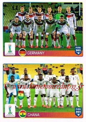 2015-16 - Panini FIFA 365 Stickers - N° 037-038 - Allemagne + Ghana (FIFA U20 World Cup)