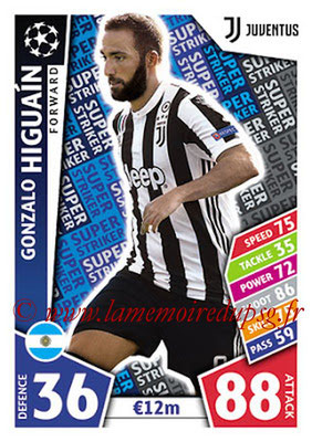 2017-18 - Topps UEFA Champions League Match Attax - N° SS21 - Gonzalo HIGUAIN (Juventus) (Super Strikers)