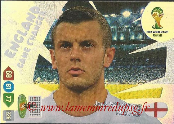 2014 - Panini FIFA World Cup Brazil Adrenalyn XL - N° 396 - Jack WILSHERE (Angleterre) (Game Changer)