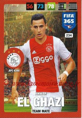 2016-17 - Panini Adrenalyn XL FIFA 365 - N° 234 - Anwar EL GHAZ (AFC Ajax)
