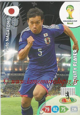 2014 - Panini FIFA World Cup Brazil Adrenalyn XL - N° 225 - Yuto NAGATOMO (Japon) (Utility Player)