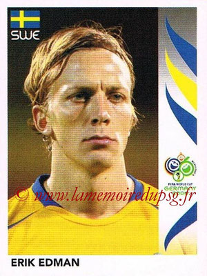 2006 - Panini FIFA World Cup Germany Stickers - N° 154 - Erik EDMAN (Suède)