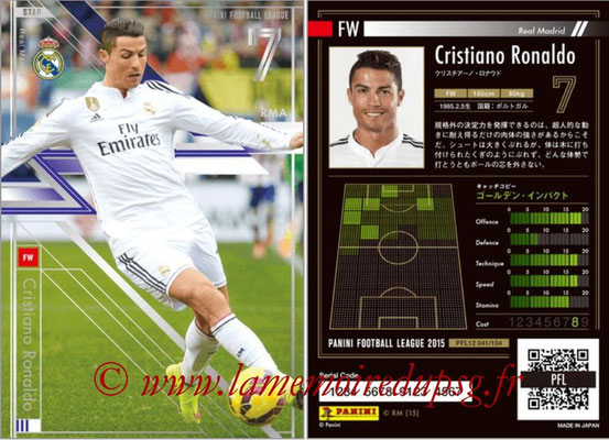 Panini Football League 2015 - PFL12 - N° 041 - Cristiano RONALDO (Real Madrid) (Star)