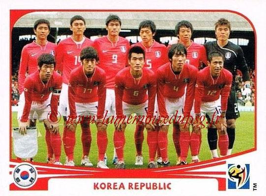 2010 - Panini FIFA World Cup South Africa Stickers - N° 144 - Équipe Corée du Sud