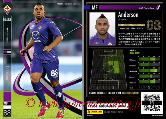 Panini Football League 2014 - PFL07 - N° 032 - ANDERSON (ACF Fiorentina) (Star)