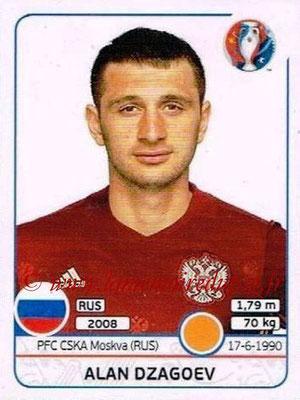 Panini Euro 2016 Stickers - N° 171 - Alan DZAGOEV (Russie)