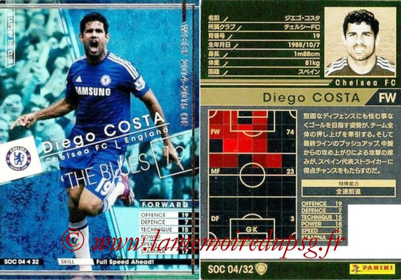 2014-15 - WCCF - N° SOC04 - Diego COSTA (Chelsea FC) (Stars Of the Club)
