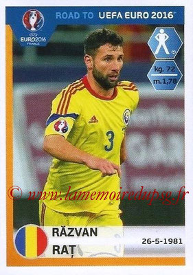 Panini Road to Euro 2016 Stickers - N° 242 - Razvan RAT (Roumanie)