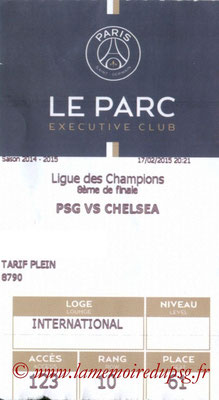 Tickets PSG-Chelsea  2014-15