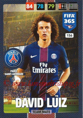 2016-17 - Panini Adrenalyn XL FIFA 365 - N° 156 - David LUIZ (Paris Saint-Germain)