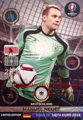 Panini Road to Euro 2016 Cards - N° LE-MN - Manuel NEUER (Allemagne) (Limited Edition)