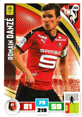 2016-17 - Panini Adrenalyn XL Ligue 1 - N° 308 - Romain DANZE (Rennes)