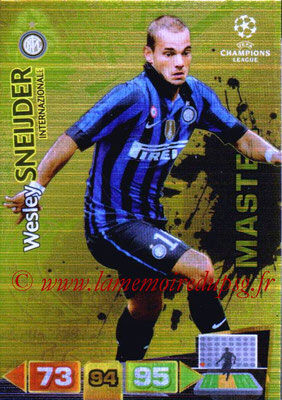 2011-12 - Panini Champions League Cards - N° 337 - Wesley SNEIJDER (Inter Milan) (Master)