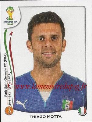 2014 - Panini FIFA World Cup Brazil Stickers - N° 325 - Thiago MOTTA (Italie)