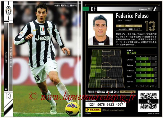 Panini Football League 2013 - PFL03 - N° 010 - Federico Peluso (Juventus FC)