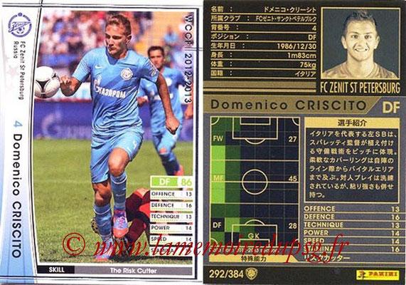 2012-13 - WCCF - N° 292 - Domenico CRISCITO (FC  Zenit)